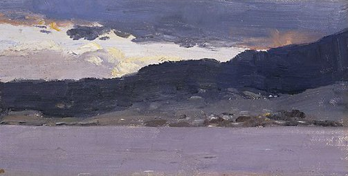 An image of (Landscape sketch, Hobart) by Tom Roberts