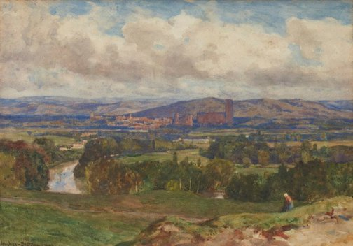 An image of Albi, France by Sir Herbert Hughes-Stanton