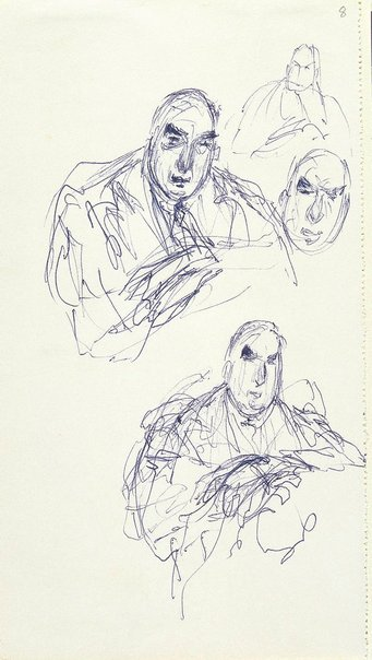 An image of Four studies of R.G Menzies by William Dobell