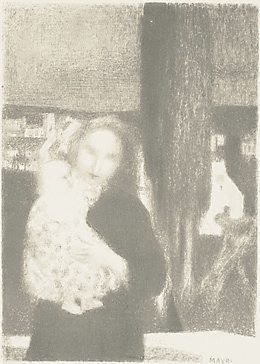 An image of Maternité au Cyprés by Maurice Denis