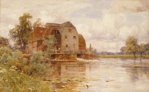 An image of The mill pool - Hemingford Grey by Sir Ernest Albert Waterlow