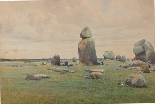 An image of Stonehenge by W Lister Lister