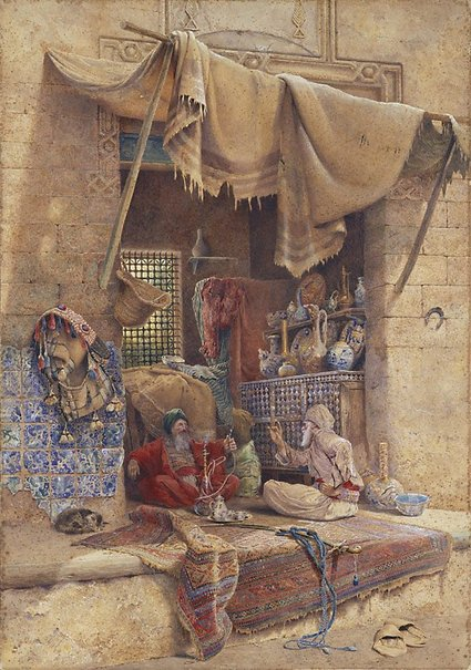 An image of Bazaar gossip by Charles Robertson