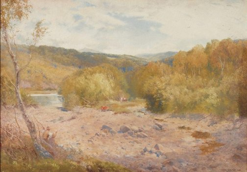 An image of Valley of the Dart, Devonshire by W. Eyre Walker