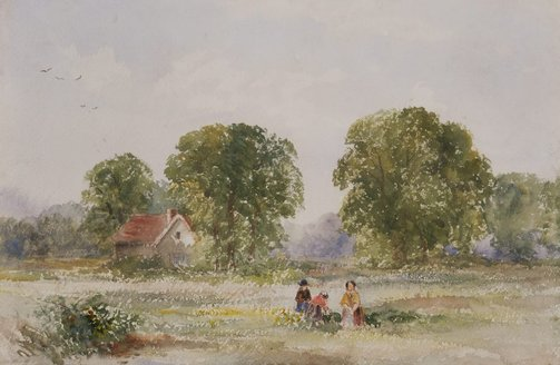 An image of Women working in a field by William Bennett