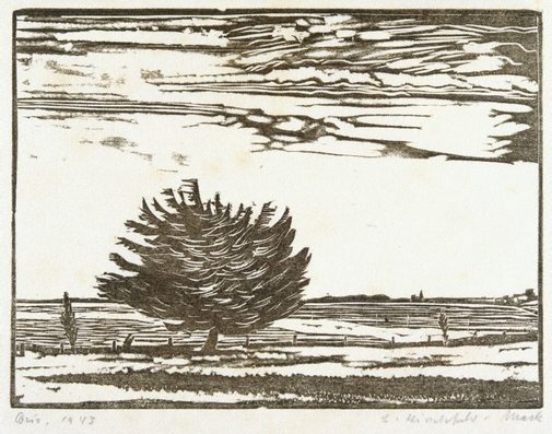 An image of Corio (Pine by the shore) by Ludwig Hirschfeld-Mack