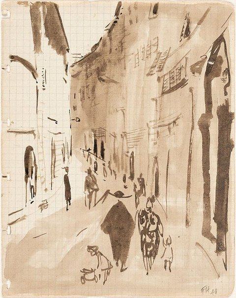 An image of (Street scene) by Frank Hodgkinson