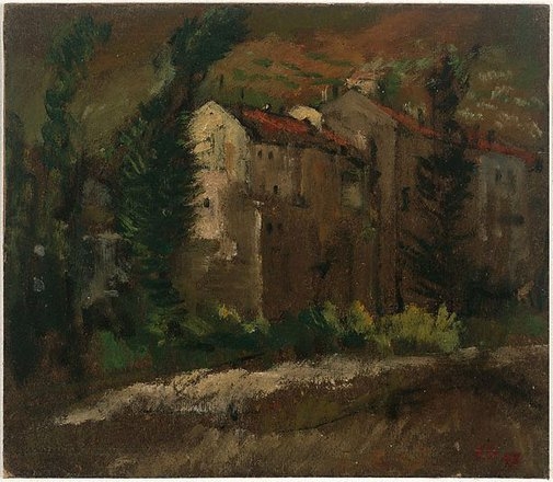 An image of (Tuscan buildings) by Frank Hodgkinson