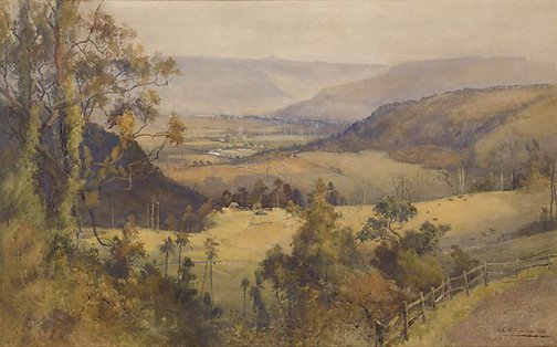 An image of Kangaroo Valley, New South Wales by A Henry Fullwood