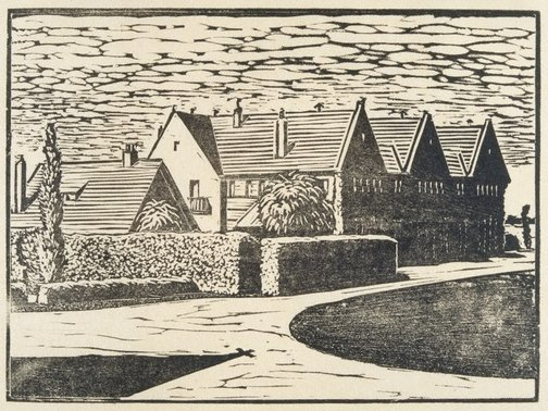 An image of Cuthbertson House. Geelong Grammar School by Ludwig Hirschfeld-Mack