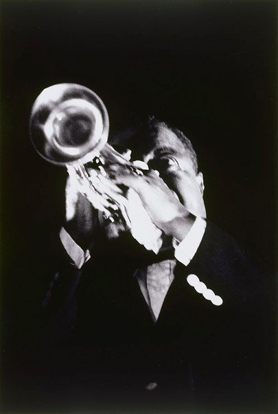 An image of Louis Armstrong at the Stadium, Sydney by David Moore