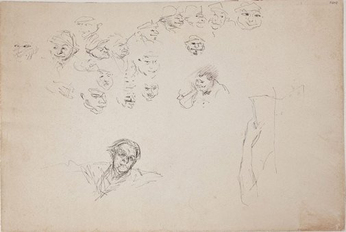 An image of (Face studies and self portrait) (Late Sydney Period) by William Dobell