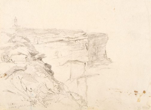 An image of The Heads, Port Jackson by John Skinner Prout