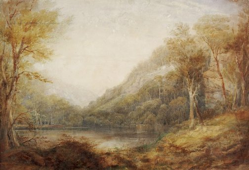An image of Norton's Basin, Nepean River by Conrad Martens
