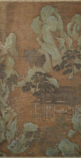 An image of Receiving a visitor in the retreat by QIU Ying