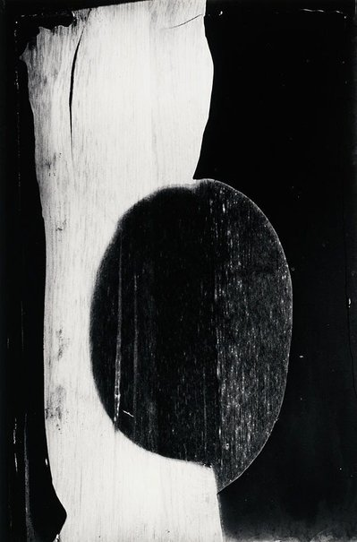 An image of Burned mirror, Rochester, New York, June 1959 by Minor White