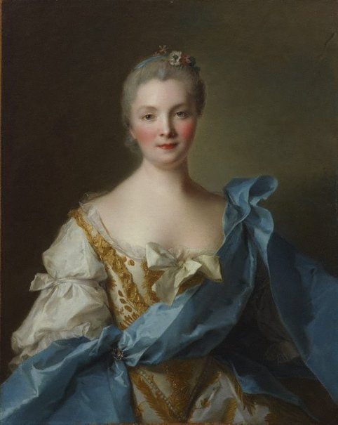 An image of Madame de La Porte by Jean-Marc Nattier