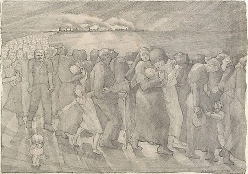 An image of The refugees by Grace Cossington Smith