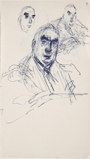 An image of Three studies of R.G Menzies by William Dobell