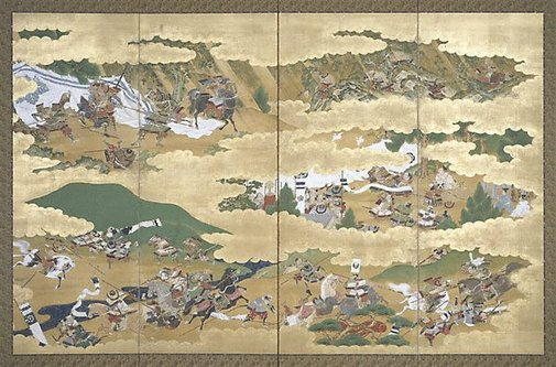 An image of (Samurai battle scenes) by Unknown
