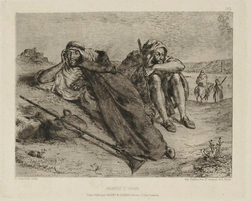 An image of Arabs of Oran by Eugène Delacroix