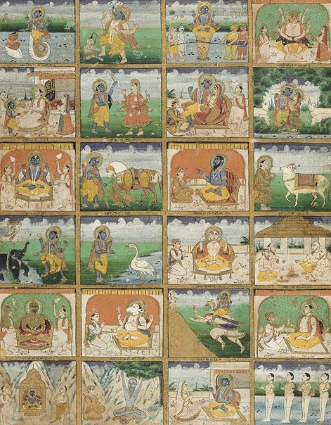 An image of The twenty-four manifestations of Vishnu by