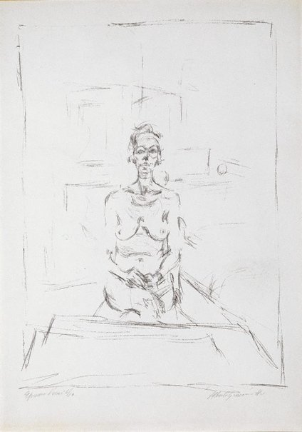 An image of Seated nude by Alberto Giacometti