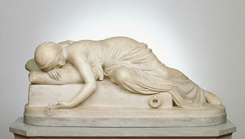 An image of Beatrice Cenci by Harriet Hosmer