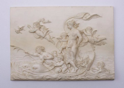 An image of Carved ivory panel by Unknown