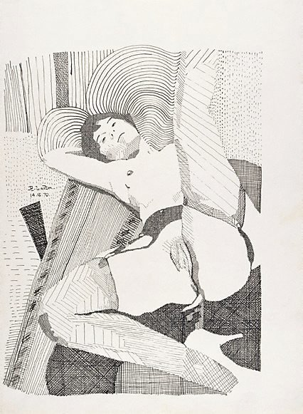 An image of Figure drawing by Richard Larter