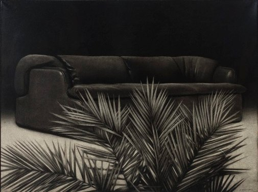 An image of Sofa and palm by William Delafield Cook