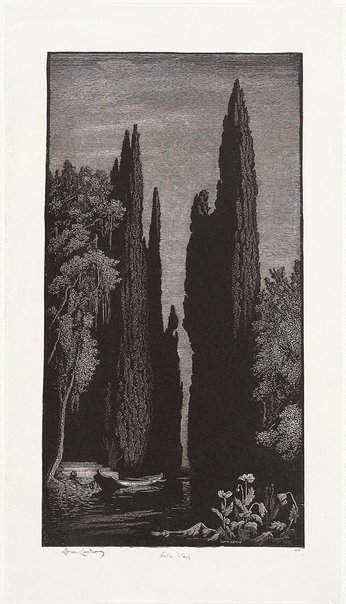 An image of Lethe Wharf by Lionel Lindsay