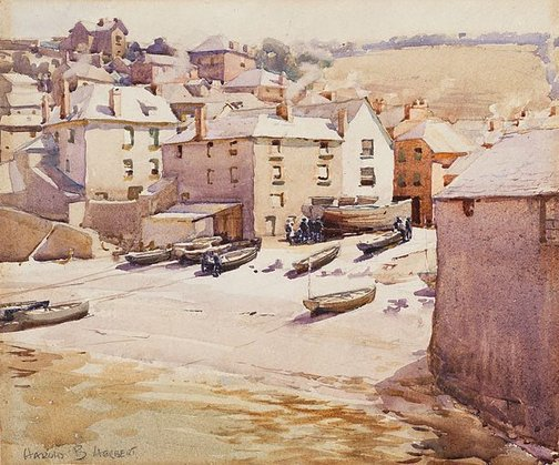 An image of Port Issyk, Cornwall by Harold Herbert