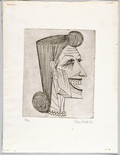 An image of (Head of a woman) by John Brack
