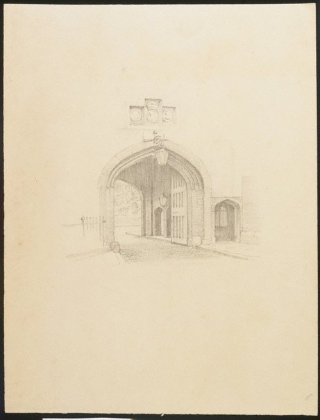 An image of (Study of a doorway) by Douglas Watson