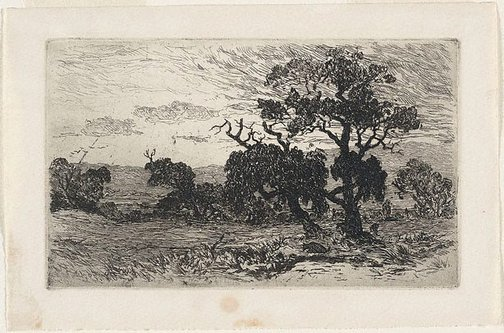 An image of Landscape by Louis Abrahams, after John Mather