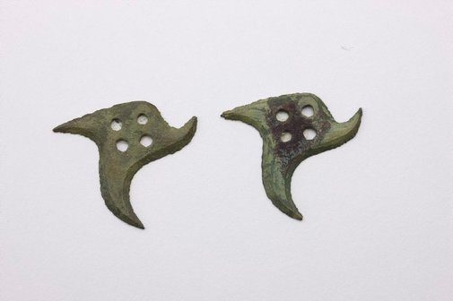 An image of Two star shaped plaques by