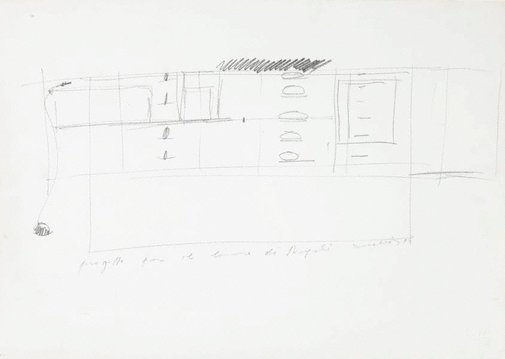 An image of Drawing for Untitled 1984/1987 by Jannis Kounellis