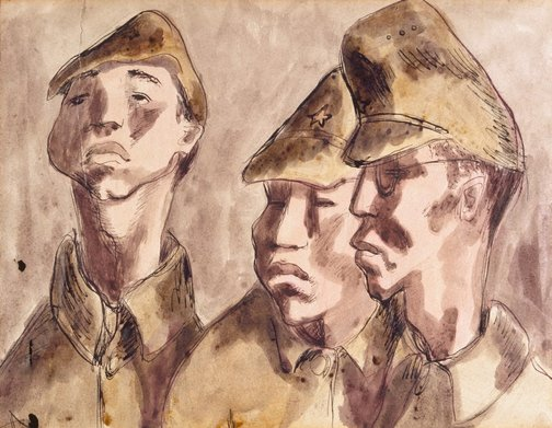 An image of (Japanese soldiers) by Douglas Watson