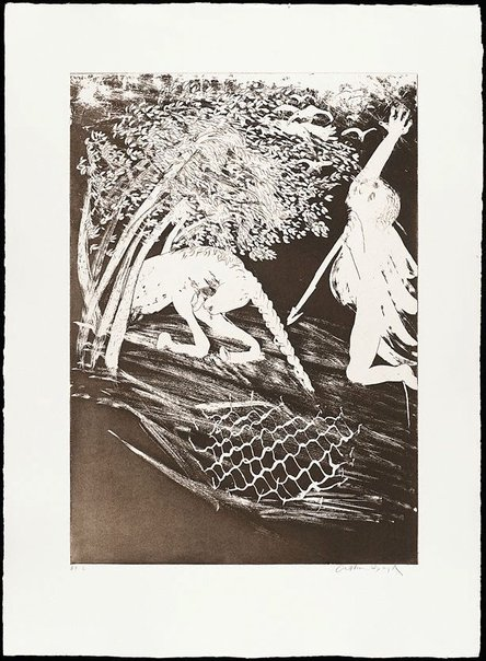 An image of (Illustration for Peter Porter's poem 'Invocation') by Arthur Boyd
