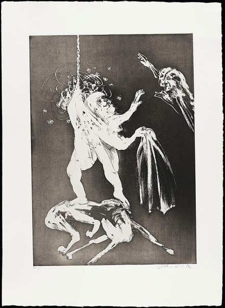 An image of (Illustration for Peter Porter's poem 'The lady's wedding') by Arthur Boyd