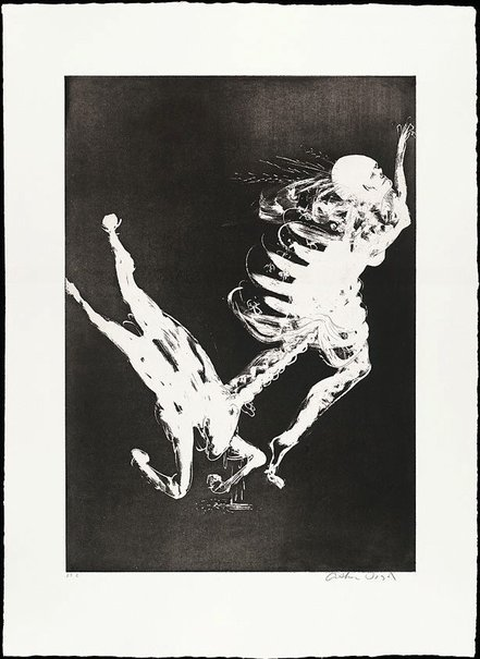 An image of (Illustration to Peter Porter's poem 'The unicorn's survival litany') by Arthur Boyd