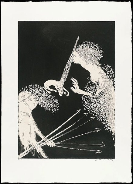 An image of (Illustration 1 for Peter Porter's poem 'Enter the Emperor') by Arthur Boyd