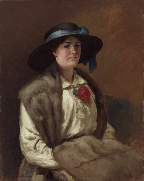 An image of Portrait of Miss Hilary Mackinnon by Rupert Bunny