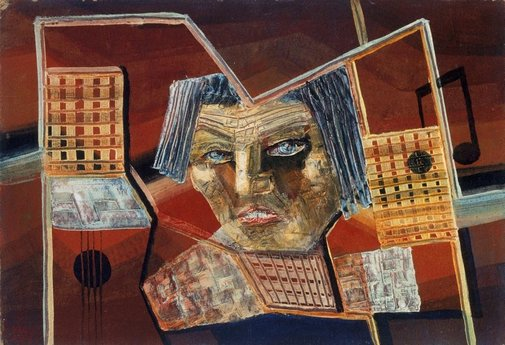 An image of Face and musical image by Ludwig Hirschfeld-Mack