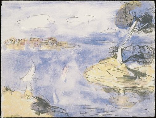 An image of Breezy day, Lane Cove River by Lloyd Rees