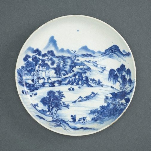 An image of Plate with a landscape scene by Southern kilns