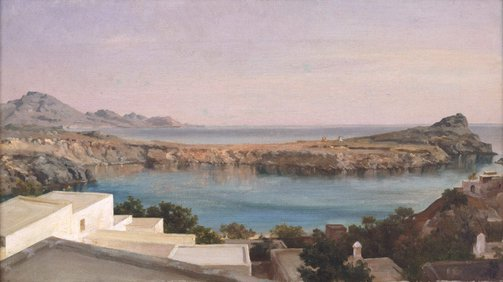 An image of Lindos, Rhodes by Lord Frederic Leighton