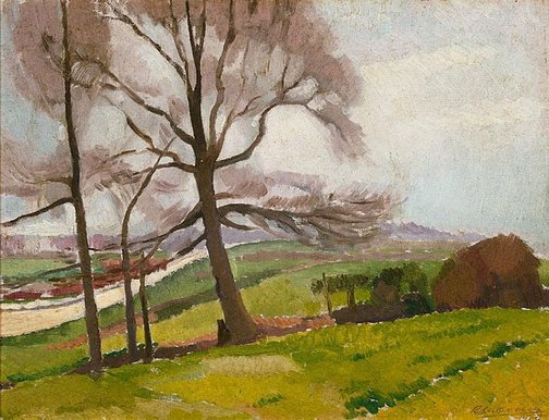 An image of Landscape near Richmond by Roland Wakelin