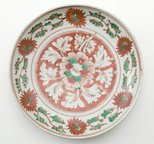 Alternate image of Dish decorated with floral motifs by Export ware